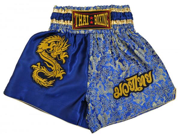 Muay Thai Boxing Shorts Blue Front