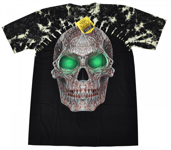Green Eye Skull Rivet Front